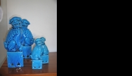 large and small foo dogs